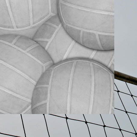 Scrappin Sports and More - Classic Sports Collection - 12 x 12 Double Sided Paper - Volleyball