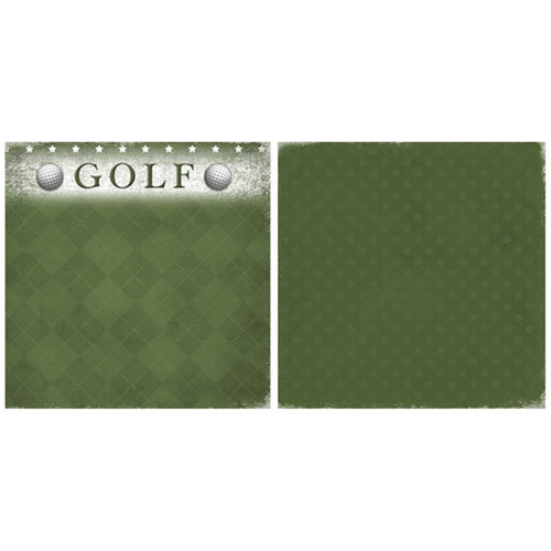 Scrappin Sports and More - Game Day Collection - 12 x 12 Double Sided Paper - Golf