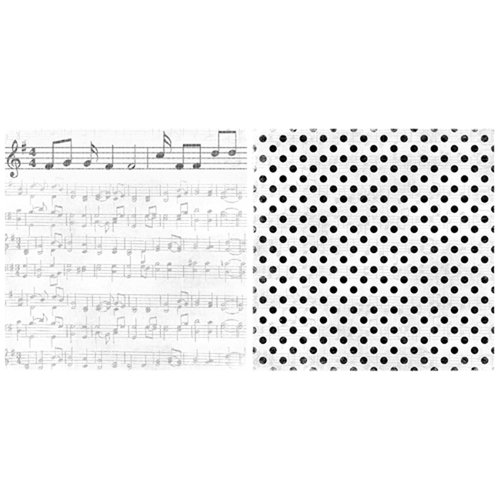 Scrappin Sports and More - Game Day Collection - 12 x 12 Double Sided Paper - Music