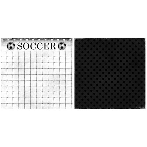 Scrappin Sports and More - Game Day Collection - 12 x 12 Double Sided Paper - Soccer