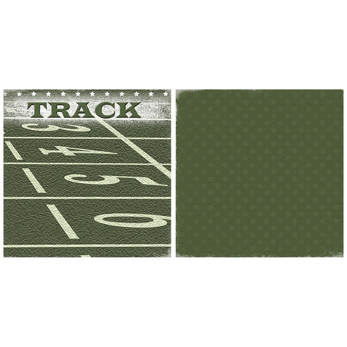 Scrappin Sports and More - Game Day Collection - 12 x 12 Double Sided Paper - Track