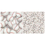 Scrappin Sports and More - Name of the Game Collection - 12 x 12 Double Sided Paper - Baseball