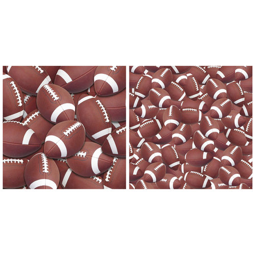 Scrappin Sports and More - Name of the Game Collection - 12 x 12 Double Sided Paper - Football