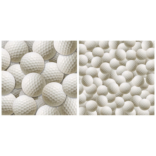 Scrappin Sports and More - Name of the Game Collection - 12 x 12 Double Sided Paper - Golf Balls