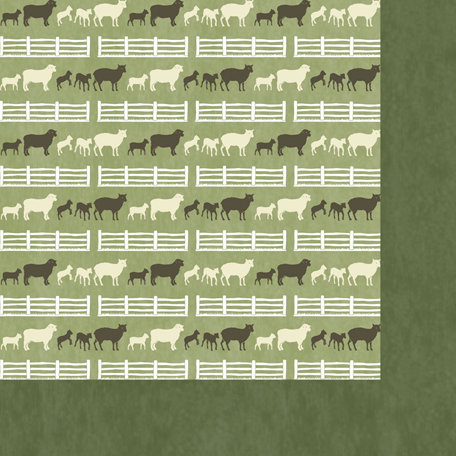 Scrappin Sports and More - Down on the Farm Collection - 12 x 12 Double Sided Paper - Sheep