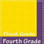 Scrappin Sports and More - School is Cool Collection - 12 x 12 Double Sided Paper - Third and Fourth Grade