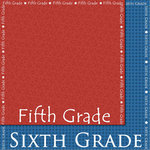 Scrappin Sports and More - School is Cool Collection - 12 x 12 Double Sided Paper - Fifth and Sixth Grade