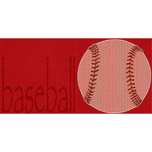 Scrappin Sports and More - Sporty Words Collection - 12 x 12 Double Sided Paper - Baseball