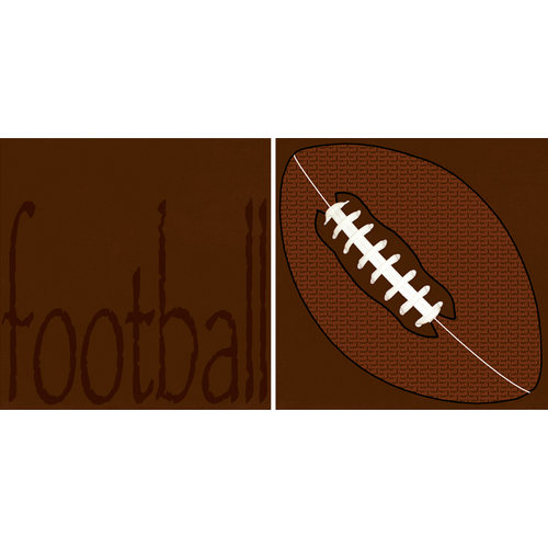 Scrappin Sports and More - Sporty Words Collection - 12 x 12 Double Sided Paper - Football