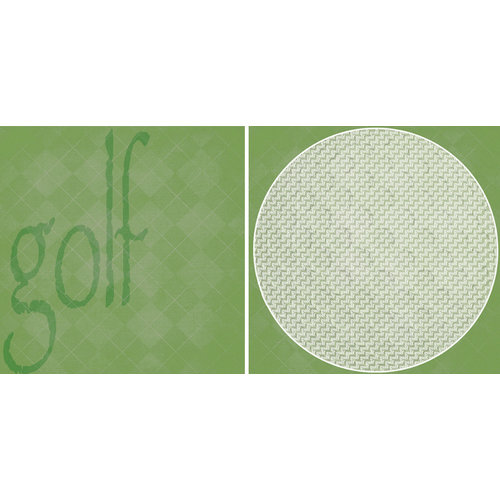 Scrappin Sports and More - Sporty Words Collection - 12 x 12 Double Sided Paper - Golf