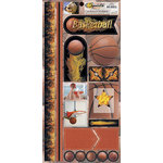 Scrappin Sports and More - Sports on Fire Collection - Cardstock Stickers - Basketballs
