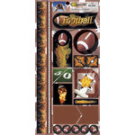 Scrappin Sports and More - Sports on Fire Collection - Cardstock Stickers - Footballs