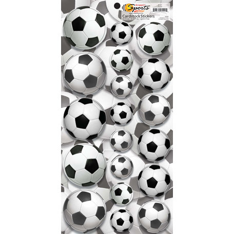 Scrappin Sports and More - Name of the Game Collection - Cardstock Stickers - Soccer