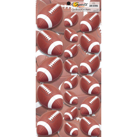 Scrappin Sports and More - Name of the Game Collection - Cardstock Stickers - Football
