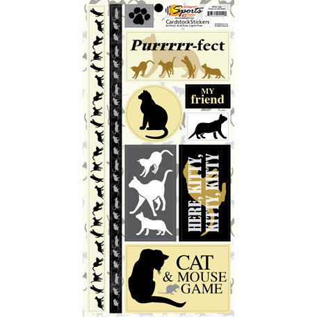 Scrappin Sports and More - Down on the Farm Collection - Cardstock Stickers - Cats