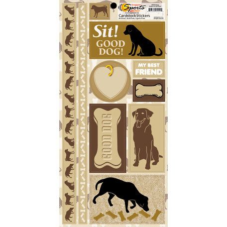 Scrappin Sports and More - Down on the Farm Collection - Cardstock Stickers - Dogs