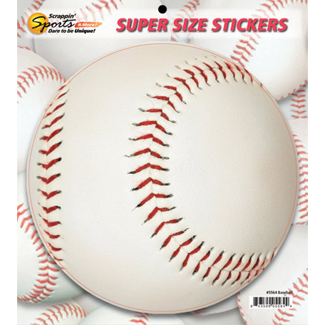 Scrappin Sports and More - Super Size Cardstock Stickers - Baseball