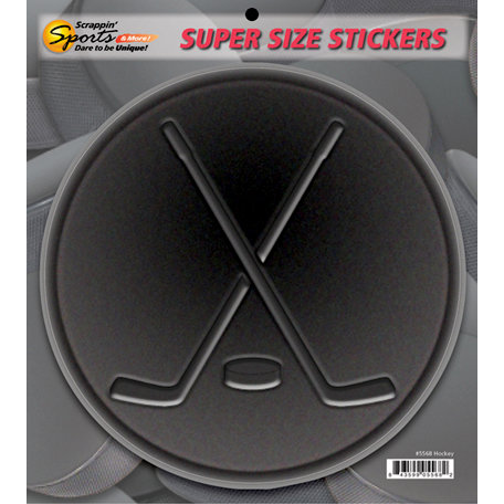 Scrappin Sports and More - Super Size Cardstock Stickers - Hockey