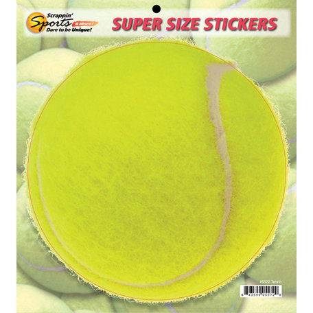 Scrappin Sports and More - Super Size Cardstock Stickers - Tennis