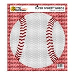 Scrappin Sports and More - Sporty Words Collection - Clear Stickers - Baseball
