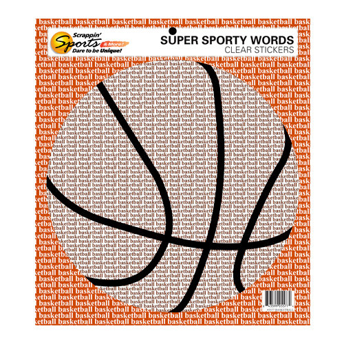 Scrappin Sports and More - Sporty Words Collection - Clear Stickers - Basketball