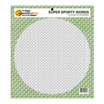 Scrappin Sports and More - Sporty Words Collection - Clear Stickers - Golf