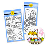 Sunny Studio Stamps - Snippits Die and Acrylic Stamp Set - A Good Egg Bundle