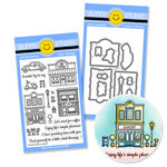 Sunny Studio Stamps - Snippits Die and Acrylic Stamp Set - City Streets Bundle