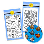 Sunny Studio Stamps - Snippits Die and Acrylic Stamp Set - FURever Friends Bundle