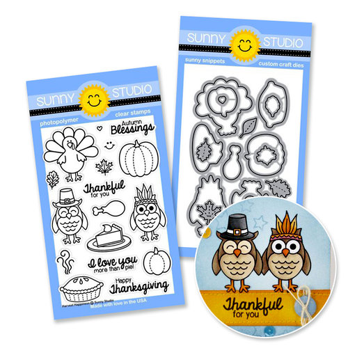 Sunny Studio Stamps - Snippits Die and Acrylic Stamp Set - Harvest Happiness Bundle