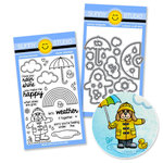 Sunny Studio Stamps - Snippits Die and Acrylic Stamp Set - Rain or Shine Bundle