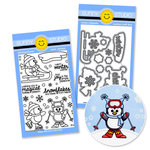 Sunny Studio Stamps - Snippits Die and Acrylic Stamp Set - Snow Kissed Bundle