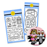 Sunny Studio Stamps - Snippits Die and Acrylic Stamp Set - Sock Hop Bundle