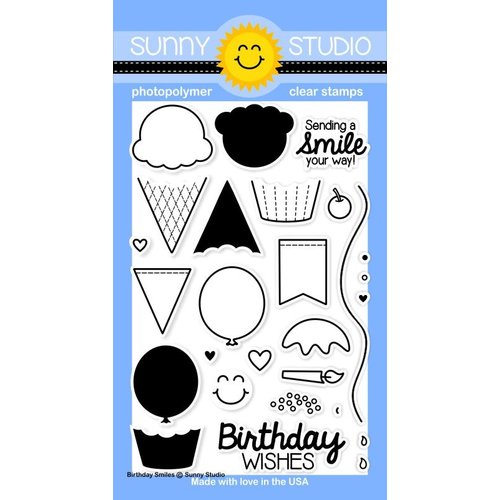 Sunny Studio Stamps - Clear Acrylic Stamps - Birthday Smiles