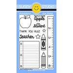 Sunny Studio Stamps - Clear Acrylic Stamps - School Time