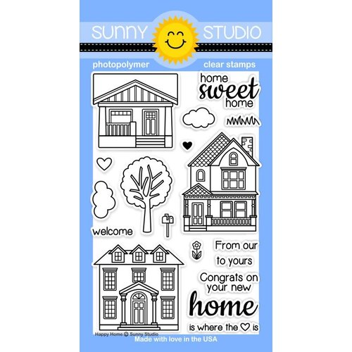 Sunny Studio Stamps - Clear Photopolymer Stamps - Happy Home
