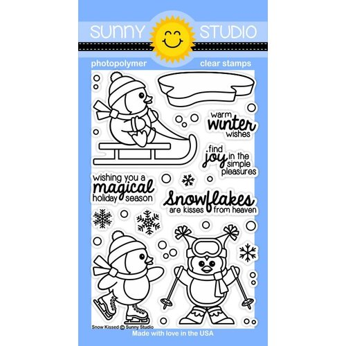 Sunny Studio Stamps - Clear Acrylic Stamps - Snow Kissed