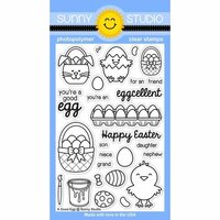 Sunny Studio Stamps - Clear Photopolymer Stamps - A Good Egg