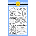 Sunny Studio Stamps - Clear Acrylic Stamps - Rain or Shine