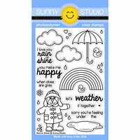 Sunny Studio Stamps - Clear Photopolymer Stamps - Rain or Shine