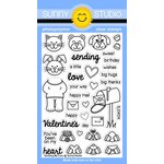Sunny Studio Stamps - Clear Acrylic Stamps - Sending My Love