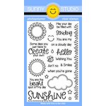 Sunny Studio Stamps - Clear Acrylic Stamps - Sunny Sentiments
