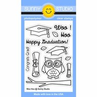 Sunny Studio Stamps - Clear Photopolymer Stamps - Woo Hoo