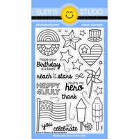 Sunny Studio Stamps - Clear Photopolymer Stamps - Stars and Stripes