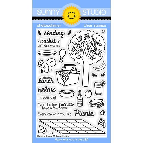 Sunny Studio Stamps - Clear Photopolymer Stamps - Summer Picnic
