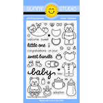 Sunny Studio Stamps - Clear Acrylic Stamps - Baby Bear
