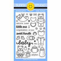 Sunny Studio Stamps - Clear Photopolymer Stamps - Baby Bear