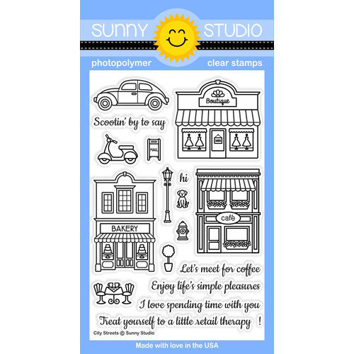 Sunny Studio Stamps - Clear Photopolymer Stamps - City Streets