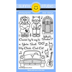 Sunny Studio Stamps - Clear Acrylic Stamps - Sock Hop