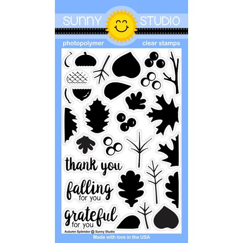 Sunny Studio Stamps - Clear Acrylic Stamps - Autumn Splendor